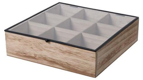 Box na čajové sáčky, 24,5 x 24 x 6,5 cm