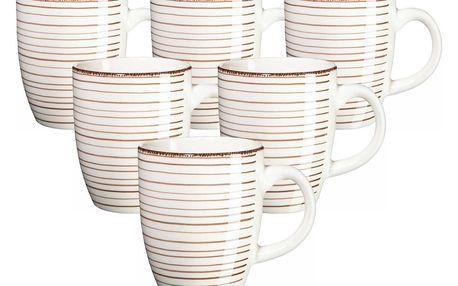 Mäser Sada keramických hrnků Bel Tempo 380 ml, 6 ks, béžová