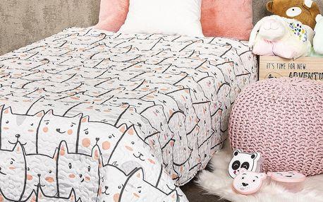 4Home Dětský přehoz na postel Kočky, 140 x 200 cm