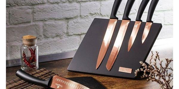 Berlinger Haus 6dílná sada nožů s magnetickým stojanem Rosegold Metallic Line3
