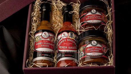 Dárkové balení oceněných chilli omáček a chutney