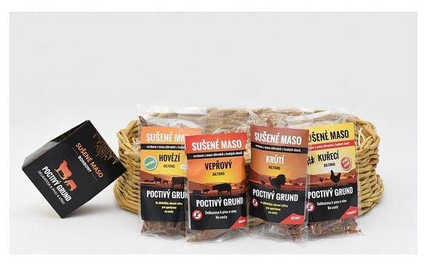 Dárkový koš sušeného masa - 12 balení + masové bonbony, V pohodlí domova (Celá ČR)5