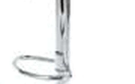 Barová židle, černý plast, chromová podnož, výškově nastavitelná AUB-404 BK
