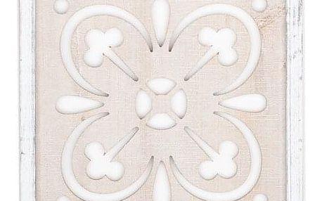 Dřevěná nástěnná dekorace Vezelay, 32 x 82 cm
