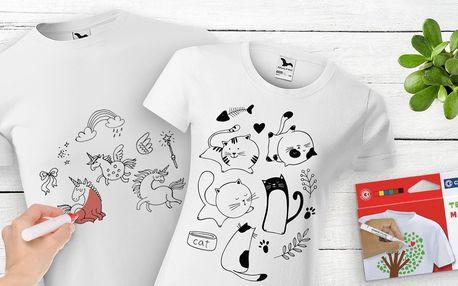 Vybarvovací trička pro děti i dospělé: 4 motivy