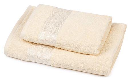 Jahu Sada Strook ručník a osuška smetanová, 70 x 140 cm, 50 x100 cm