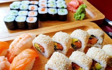 Lososový, vegetariánský i maki sushi set