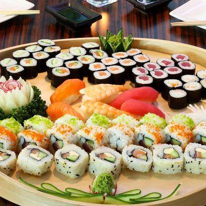 Sushi sety s 21–70 kousky: krevety, losos i tuňák