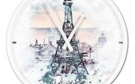 Nástěnné hodiny Eiffel tower, pr. 30,5 cm