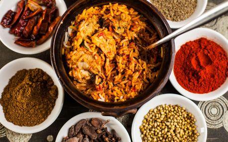 Indické menu pro 2 či 4 osoby v restauraci Salaam Namaste