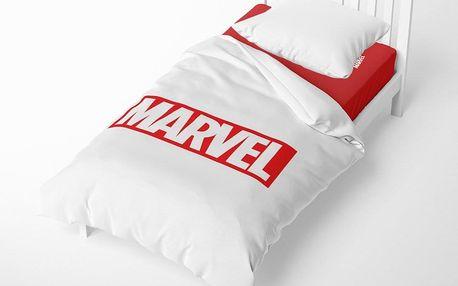 Herding Herding povlečení Logo Marvel 140x200/70x90 cm bílé