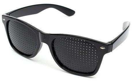 Dírkované brýle pro možné posílení zraku a relaxaci očí - dodání do 2 dnů
