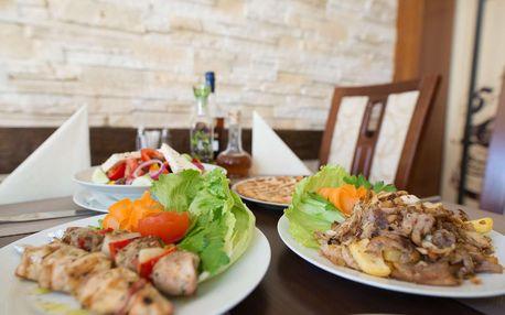 Degustační masové plato s přílohou pro dva restaurace Delphi Greek v Ostravě