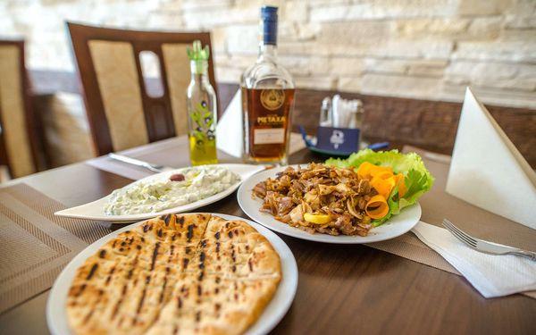 Řecké menu v restauraci Delphi Greek