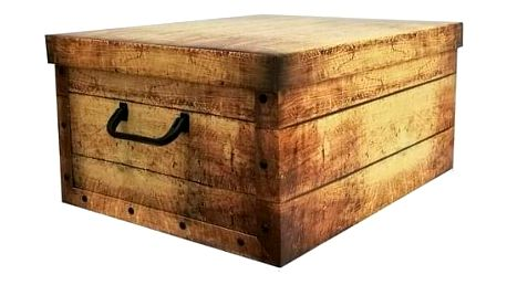 Compactor Skládací úložná krabice Compactor Country - karton box 50 x 40 x 25 cm