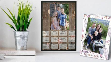 Nástěnný fotokalendář ve dvou formátech: A4 a A3