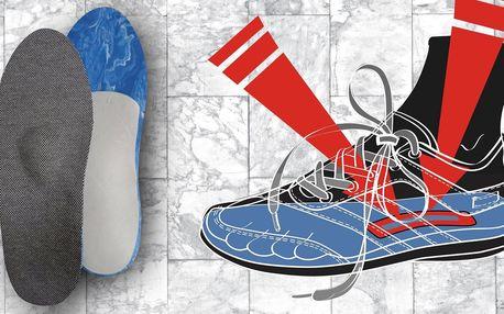Vložky do bot pro podporu klenby a eliminaci zápachu