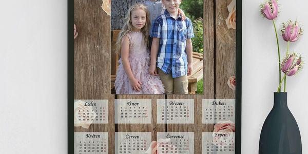 Měsíční nástěnný kalendář A33