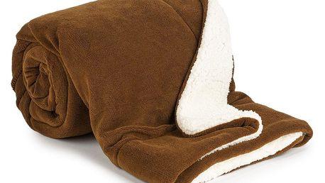 4Home Beránková deka tmavě hnědá, 150 x 200 cm