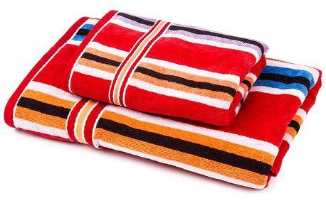 Jahu Sada Stripes Ema ručník a osuška, 70 x 140 cm, 50 x 90 cm