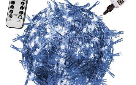 VOLTRONIC 59740 Vánoční LED osvětlení 60 m - studená bílá 600 LED + ovladač