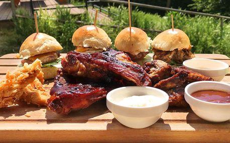 Křídla, žebra, stripsy i burgery pro až 4 nebo 8 osob