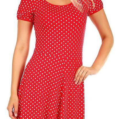 Dámské retro šaty s puntíky - i pro plnoštíhlé