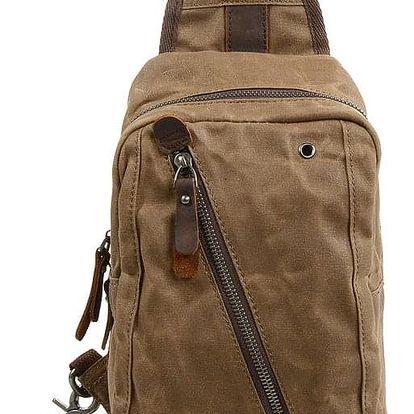 Malý plátěný batoh na jedno rameno