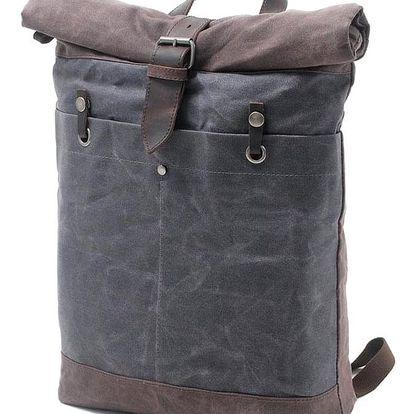 Vintage rolovací plátěný batoh