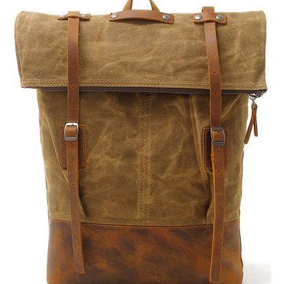 Vintage plátěný batoh v retro stylu