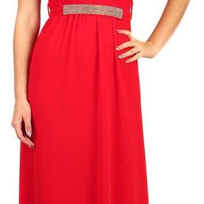 Dlouhé šifonové šaty s krajkou