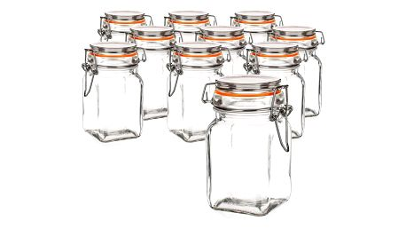 Banquet Sada skleněných dóz Lina 250 ml, 10 ks