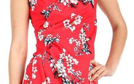 Dámské květované šaty - zavinovací efekt