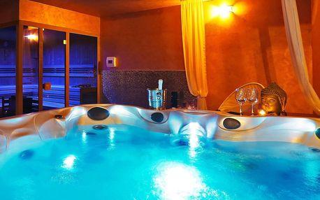Privátní vířivka i sauna pro 2–4 osoby