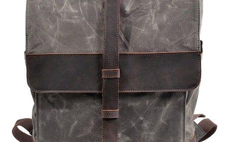 Městský plátěný batoh s koženými detaily