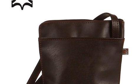 Malá kožená kabelka přes rameno - Česká výroba