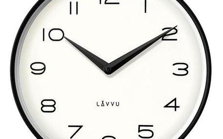 Lavvu LCT1210 Kovové hodiny Living, černá