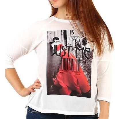 Dámské bílé triko i pro plnoštíhlé