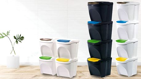 Koše na tříděný odpad: 3× nebo 4× 25 litrů