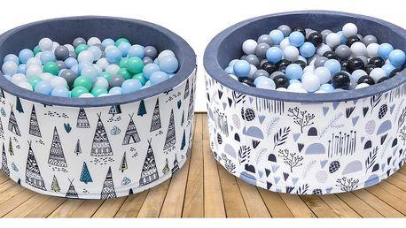 Suché bazény včetně míčků pro radost těch nejmenších
