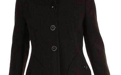 Áčkový dámský vlněný kabát s kapsami