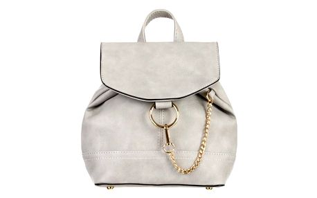 Malý dámský koženkový batůžek s řetízkem do města