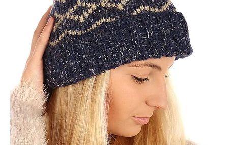 Vzorovaná pletená čepice