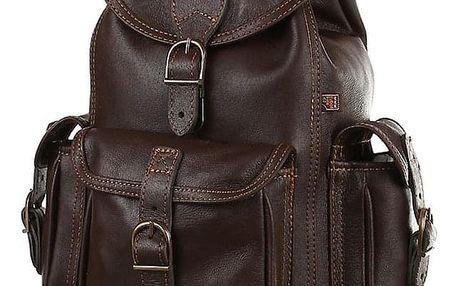 Malý tříkapsový batoh z pravé kůže - Česká výroba