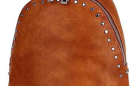 Malý dámský koženkový batoh s cvočky