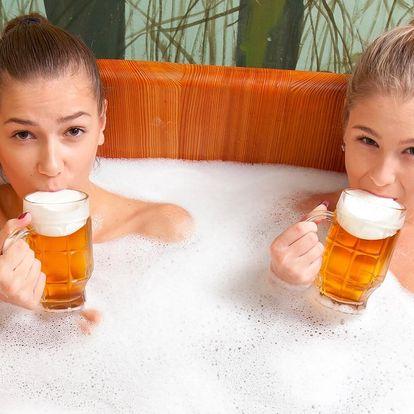 Podhorská pivní lázeň a 3chodová večeře pro dva