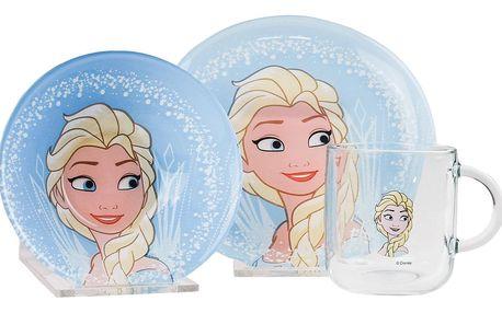 Mäser 3dílná dětská jídelní sada Frozen, Elsa