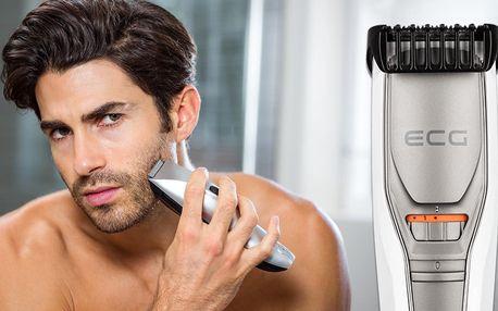 Dobíjecí zastřihovač vousů ECG: 20 délek střihu