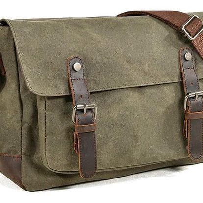 Nepromokavá retro plátěná taška přes rameno