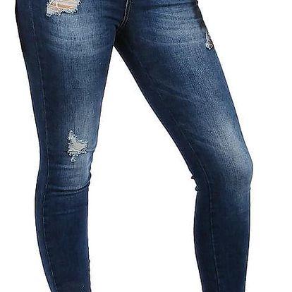 Dámské džíny s potrhaným efektem